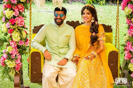 Shrutika and Dirin | Destination weddings in India | Goa Weddings | Bridal looks | Mehendi Decor ideas | Real Indian couples | Indian wedding Photography | The Big Fat Indian Weddings | Mehendi outfit inspiration | jasmine look |