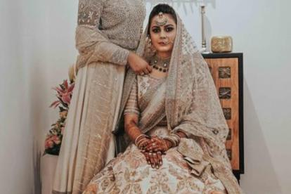 Rizwana and Mishad | Bride in Sabyasachi lehenga | Lehenga in Peach Lehenga | Real Indian Brides | Indian Couples | Indian Wedding Photography | Kancheepuram Saree | Muslim brides | South Indian Brides |