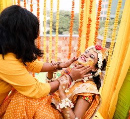 Tanushree and Abhineet | Real Indian Weddings | Featured on WittyVows | haldi Ceremony | Candid pictures |