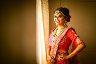 Tanushree and Abhineet | Real Indian Weddings | Featured on WittyVows | Bridal photoshoot | Personamlised lehenga |