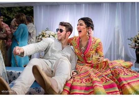 Priyanka Chopra and Nick Jonas Wedding   Abu Jani Sandeep Khosla   Stories by Joseph Radhik   Mehndi outfit  