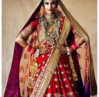 Sonam Kapoor in a Red Lehenga   Bridal jewellery   Red lehnga  