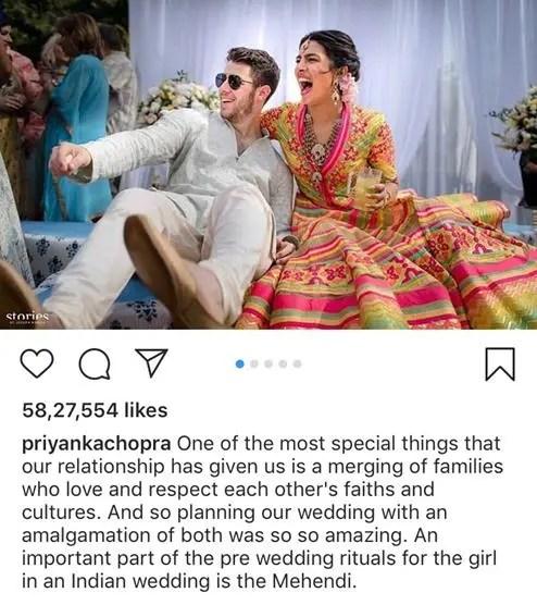 Priyanka Chopra and Nick Jonas Wedding | Mehendi | Abu Jani Sandeep Khosla | Yellow lehenga