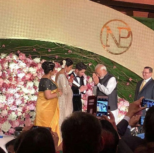 PeeCee with Narendramodi Priyanka Chopra Reception in Delhi
