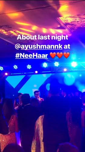 Ayushmann Kurranna on Neeti Mohan's Wedding