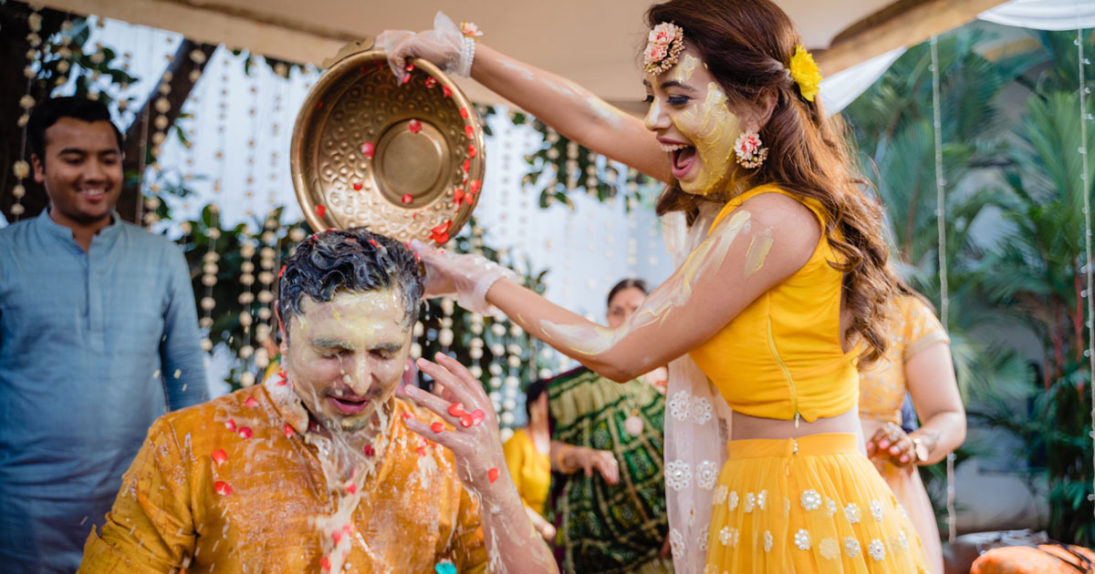 Haldi feels | Sanaya kartik wedding in goa | pretty pastel bride