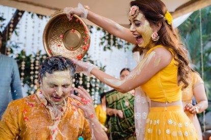 Haldi feels | Sanaya kartik wedding in goa | pretty pastel bride
