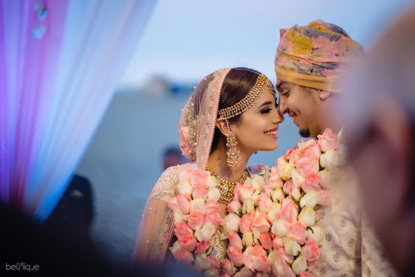 Sanaya kartik wedding in goa | pretty pastel bride