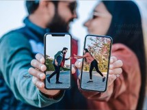 Indian wedding Apps every indian bride needs to plan her wedding   couple pre wedding shoot with phones