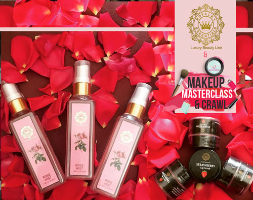 Royalry Essentials face mist and lip scrub - Makeup masterclass delhi | best bridal makeup class in delhi | Trousseau shopping with the best makeup artists in delhi