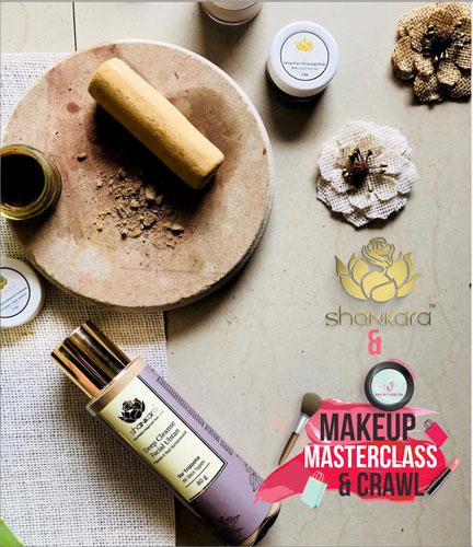 Shankara Naturals Deep cleanse Makeup masterclass delhi | best bridal makeup class in delhi | Trousseau shopping with the best makeup artists in delhi