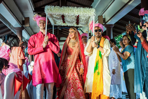 Prianka & Nico | Indian Wedding | Mehendi | destination Weddings in Phuket Thailand | Wedding inspiration | Indian Wedding photograhy | PK Suri | Bridal Photography | Red Bride | Beautiful | Bridal Entry