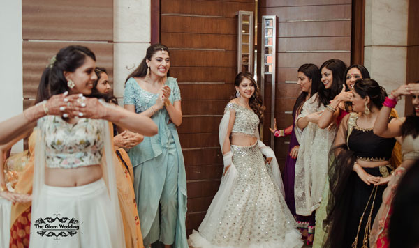 Indian actress engagement | Bridal entry with bridesmaids | Dancing bridal entry | Niti Taylor Engagement | Celebrity Engagement