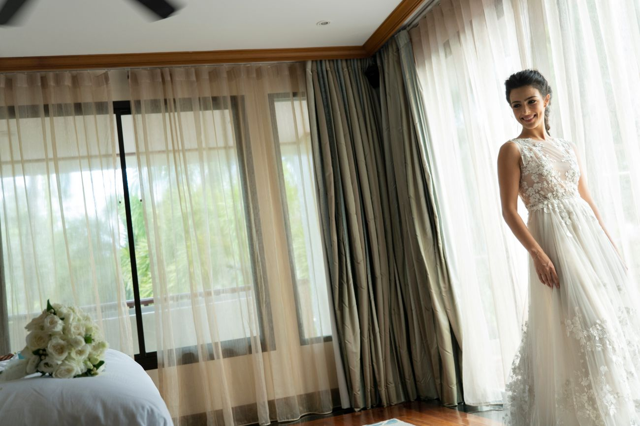 Prianka & Rico | White Wedding | French and Indian | Wedding Vows | candid wedding Photography | destination weddings in Phuket | Thailand | Beach Weddings | Altair | Wedding with a view | love | Must see | real Weddings | Getting ready