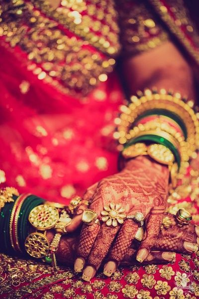 latest bangle designs | Beautiful statement bangles for brides | Bridal henna | Mehendi | Green and red