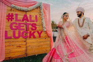 wedding hashtag | adding names to yur wedding decor | indian wedding trends 2020