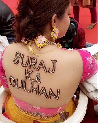 suraj ki dulhan | customised blouse designs | indian bridal lehenga | saree designs \ how to add name to your wedding lehenga | Personalised clutch | Wedding trends | Mrs. | New ideas | Inspiration | #indianwedding #indianbride2020 #customisedclucth #indianbridaltrend2020 #wittyvows #latestweddingtrends #bigfatindianwedding