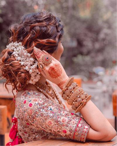 beautiful messy bun with bajra Diwali party hairstyles