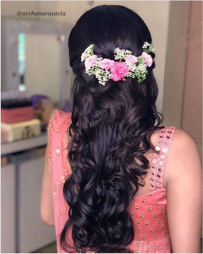 floral half upto with curls
