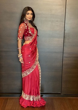 Red Saree for New Brides | Diwali outfit ideas  | trending now | First Diwali after wedding | Indian Outfit inspiration | Shilpa Shetty