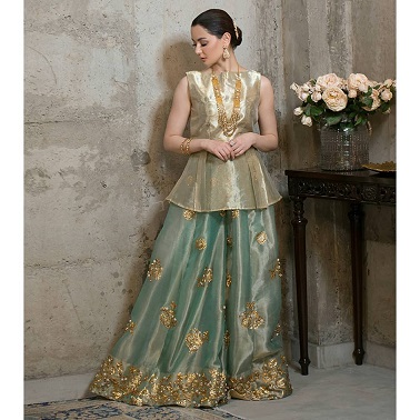 Orgnaza sharara with peplum kurti | trending new outfit ideas | Diwali outfit ideas | new Clothes
