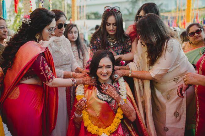 bride during a wedding ritual   A dreamy destination wedding in Udaipur