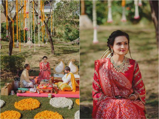Bride at pre-wedding rituals   Priyanka and Parth's Wedding ceremonies