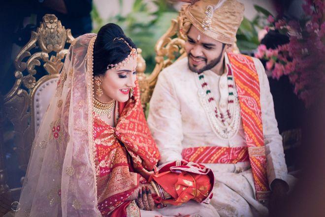 couple on their wedding day | stuti and mukul |