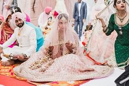 Pankhuri & Gobind | Candid wedding photography | Pink and gold lehenga | Bridal photography