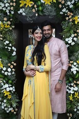 Hanna & Shahrukh | Yellow White and green flower decor | Floral arrangements | Indian bride |