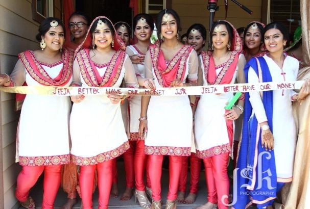 Groom entry ideas   ribbon cutting ceremony   bridesmaids at wedding