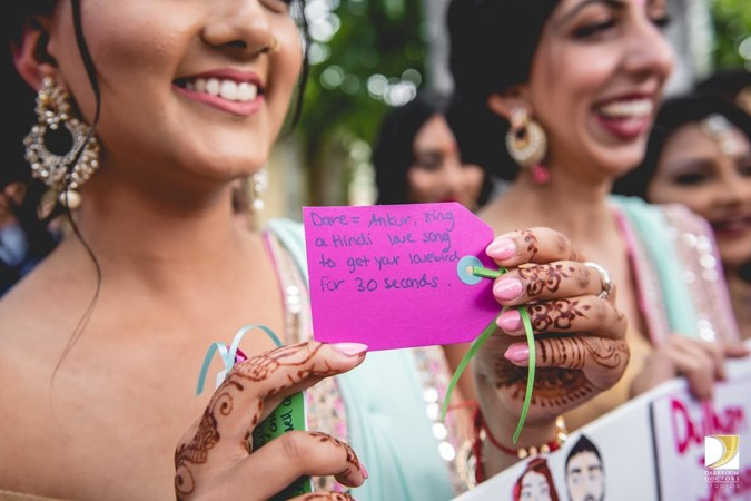 groom welcome ideas   dare to give to your jiju   funny game to play at wedding