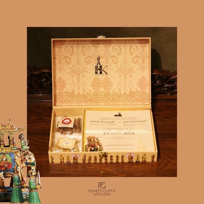 Trending New Ideas for Wedding Gifts | Chess themed wedding card