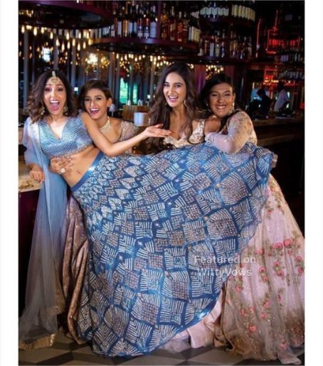 Singer Neeti Monhan posing with her sisters | Celebrity Wedding Trends of 2019