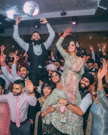 Major fun at a sangeet party at indian wedding