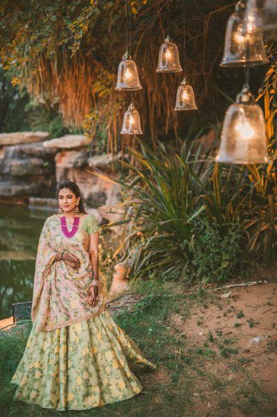 Gujrati Wedding with Sabyasachi Lehenga for Mehendi