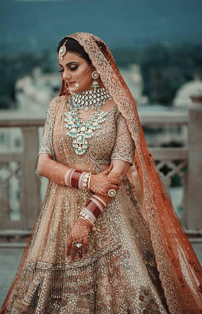 rimple and harpreet bride | rah indian bride | designer bridal lehenga | wittyvows | latest bridal lehenga | polki diamonds | polki set for indian brides |#wittyvows #indianbride #lehenga