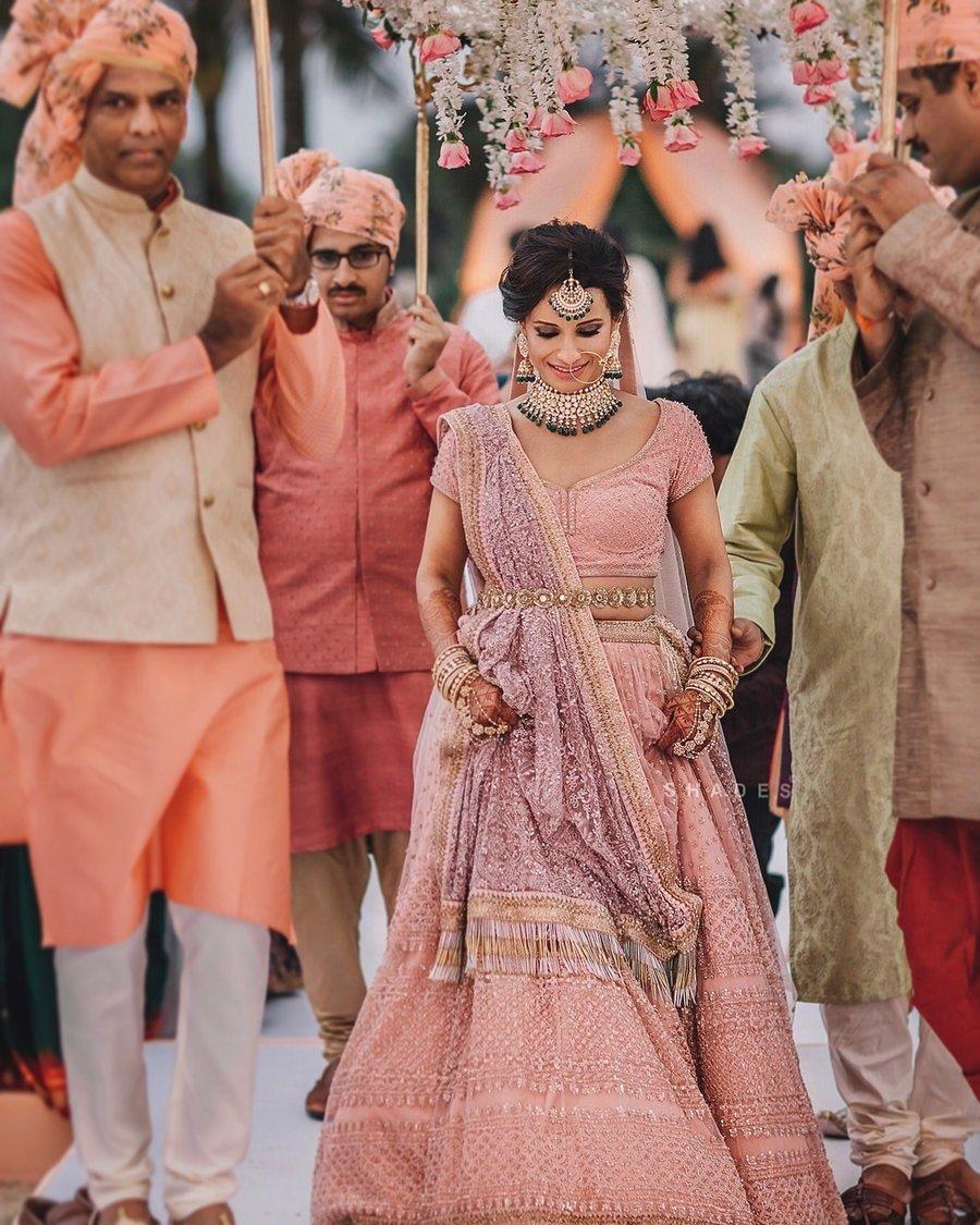Lehenga Colour trends| pastel bridal lehnga | pastel coloured lehenga designs | lilac lehenga | pastel purple lehenga | pastel bride 2020 | entry of the indian bride | big fat indian wedding 2020 | #wittyvows #pastellehenga #2020lehengadesigns #lehenga designs #latestlehengacolours