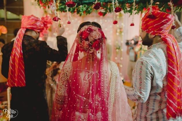 stunning bridal dupatta