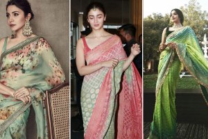 latest designer sarees as seen on bollywood celebrities