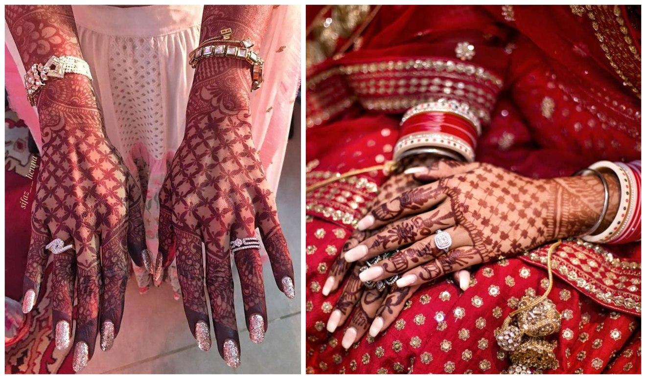 mehendi designs for indian brides , ring designs