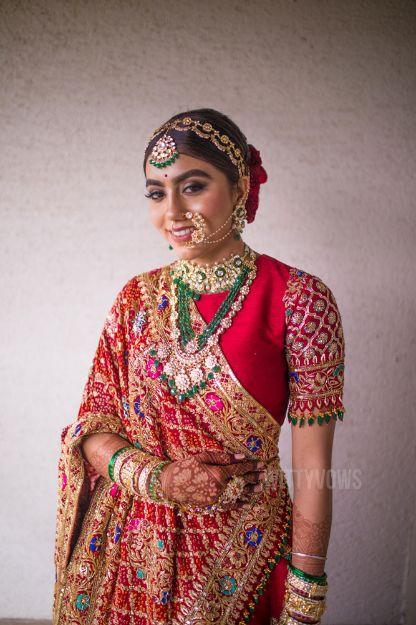 bride who designed her own lehenga | Stunning Gujarati Wedding