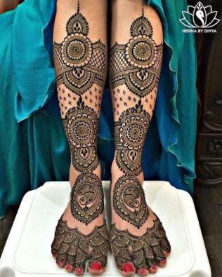 Bridal Foot Henna