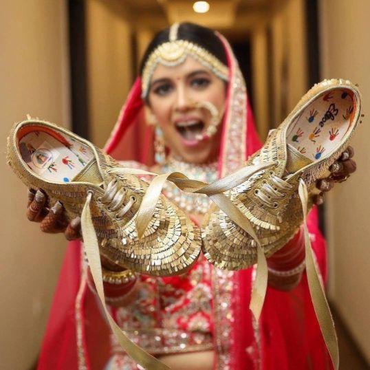 Wedding Shoes | bridal sneakers to wear with wedding lehenga