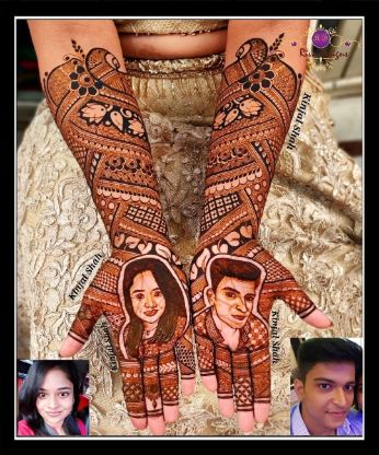 bridal portrait henna designs trending this wedding season