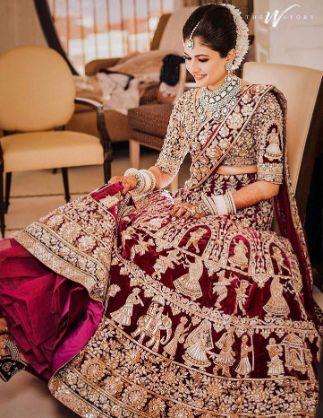 stunning Manish Malhotra wedding lehenga