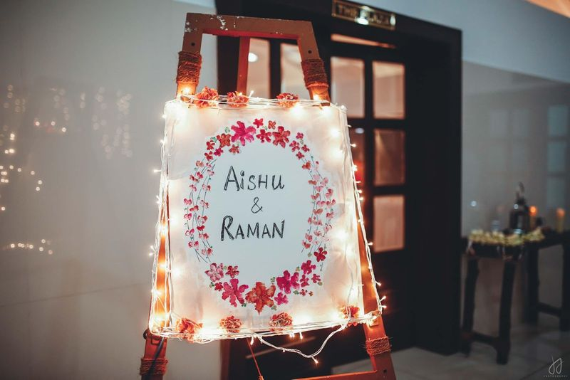 diy name signages for indian weddings | creative wedding decor home wedding corona virus