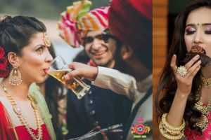 Indian wedding photography | ways to eat alcohol