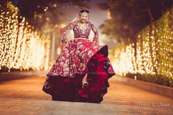 red bridal lehenga | Wedding Night Reality