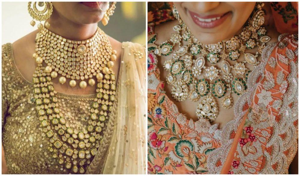 indian bridal polki jewllwery #diamond #indianbride